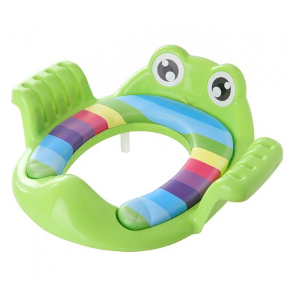 Biziborong Frog Baby Children Kids Potty Training Toilet Seat with Handle Fit Toilet Bowl Chair Soft Cushion  - RF77