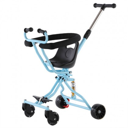 Biziborong Baby Foldable Magic Stroller Ultra Lightweight 4 Wheels Scooter For Kids Children Tricycle Bicycle - RF84