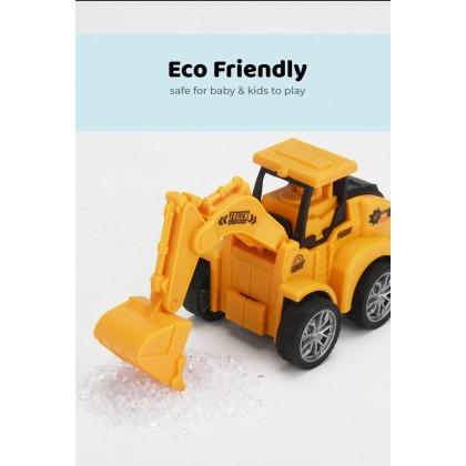 Biziborong Kids Boy Toy Car Excavator Construction Truck Toys Driller Road Roller Bulldozer Pretend Play - TB001