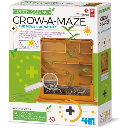 Biziborong Grow-A-Maze Green Science Kit Kids Toy Early Learning Eductional STEAM Toys - RG06